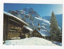Evangelische Kirche von Muerren Mit Jungfrau Postcard Switzerland 646a