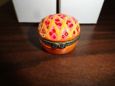 NEW in Box! FUN! All Amercian Cherry Pie Hinged Trinket Box w/Surprise Inside