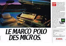PUBLICITE  1985   CANON   X07 micro ordinateur ( 2 pages)