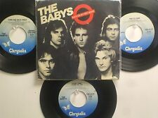 LOT OF 4 ' THE BABYS ' HIT 45's+1PS[Back On My Feet Again] THE 70's&80's!