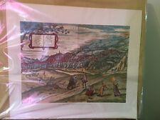 VIEW OF HISPALIS SPAIN BY GEORGE BRAUM  VINTAGE PRINT 1970'S NUMBERED