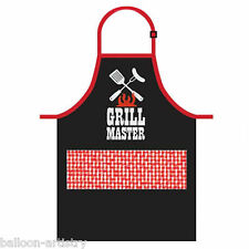 Red & Black Classic Garden BBQ GRILL MASTER Summer Barbeque Party Picnic Apron