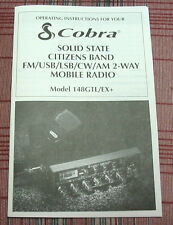 Cobra 148GTL-EX+ Export Radio Owners Manual