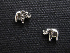 ELEPHANT .925 Sterling Silver Stud Earrings - FREE SHIPPING & Gift Box!!