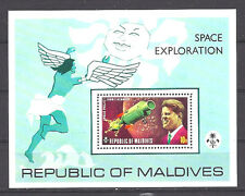 MALDIVES ISLANDS , SPACE , KENNEDY, SOUVENIR SHEET  PERF , MNH