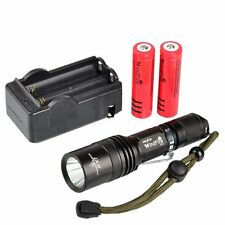 WindFire 2000 Lumen 5 Modes Cree T6 XM-L U2 LED flashlight 2pcs 18650 batteries