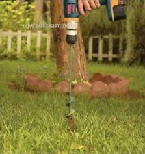 """Garden Auger Drill Bit - 1.75"""" diameter 30"""" long - soil tunnel hole bulb digger"""