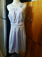 "David's Bridal size 12 light purple 100% cotton sleeveless knee length sy ""83690"