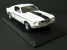FORD MUSTANG GT COBRA JET 1968 WHITE MAISTO 31167 1/18 1:18 SPECIAL EDITION
