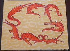 Lou Laurin-Lam Epreuve d'artiste signé Cercle de crocodiles p 1126