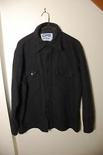 CPO made for Holiday Vtg Button Up Shirt Wool Thick Flannel USA navy blue size L