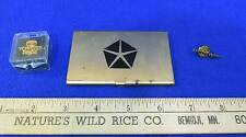 2 Lapel Pins Automobile Chevy Venture Toyota Pride Business Card Holder Chrysler