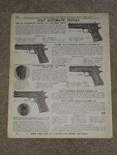 1940 Colt Automatic Pistols Ace Super National Match Price List AD Catalog Page