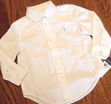 POLO RALPH LAUREN ORIGINAL BOYS BRAND NEW WHITE DRESS SHIRT Size M (10-12), NWT