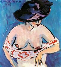 Weiblicher Halbakt mit Hut Ernst Ludwig Kirchner sinnlich Grazie H A3 0067
