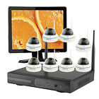 Home CCTV System Wireless Security Dome IP Cameras Kits with Hard Drive Monitor