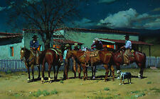 """Early to Bed, Early to Ride"" R. S. Riddick Western Fine Art Giclee Print"