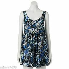 S.o. R.a.d. Awesomeness TV Womens Jrs Multicolor Floral Challis Romper Size  M