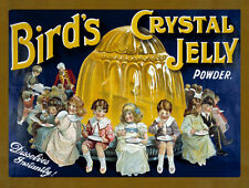BIRD'S CRYSTAL JELLY POWDER DESSERT TIN SIGN METAL PLAQUE OTHER ONES LISTED 80