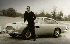 Framed Print - James Bond 007 and His Aston Martin (Picture Poster Art Car Audi)
