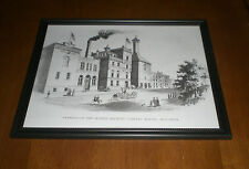 MATHIE BREWING COMPANY FRAMED BLACK & WHITE PRINT