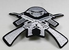 Patch   skull  avec casque ,airesoft,paintball,bikers,,custom,décoration ,