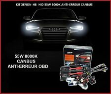 KIT XENON BALLAST CANBUS ANTI-ERREUR OBD 55W H8 8000K SLIM HID FEUX ROUTE TUNING