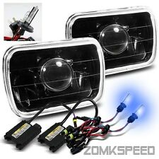 7x6 Full Black Glass Projector Headlights/10000K H4-2 Xenon HID Conversion Kit