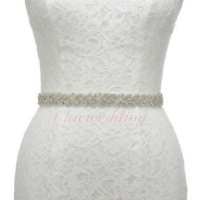 New Ivory Bridal Sash Belt Wedding Dress Belt Rhinestone Satin Crystal Belt Sash