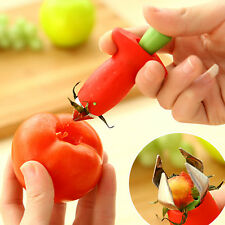 Strawberry Tomato Stem Leaves Huller Remover Removal Fruit Corer Kitchen Tool