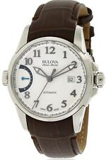 Bulova Accutron Men's 63B171 Accu Swiss Calibrator Automatic Leather Band Watch