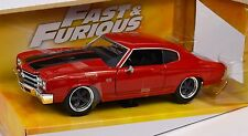 CHEVROLET CHEVELLE SS 396 1970 DOM FAST FURIOUS JADA 97193 1:24 DIECAST RED