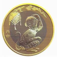 CHINA 10 Yuan 2016 UNC Year of the Monkey Bi-metal NEW ISSUE PRESALE