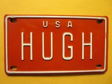 Personalized U S A HUGH Heffner Mini Bike Vanity Name License Plate 2