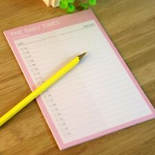 Pink Daily Times Plan Journal Schedule Planner Note Paper Organizer Memo Tear #U