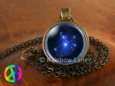 Astrology Sagittarius Constellation Stars Jewelry Necklace Pendant Charm Gift