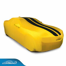 COVERKING Satin Stretch™ Yellow CAR COVER black stripes; 2010-2015 Camaro COUPE
