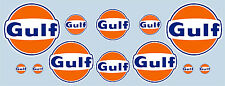 GULF LOGO 12 PIECE STICKER SET - OFFICIAL LICENSED GULF MERCHANDISE