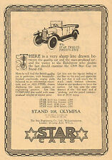 1923 Old Vintage STAR Cars Prices Star Engineering Automobile CAR Art Print AD