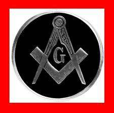 "NICE RARE BLACK MASONIC METAL CAR AUTO BADGE EMBLEM,MASON,3"" FREEMASON LOGO GIFT"