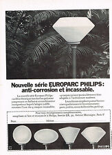 PUBLICITE   1972   PHILIPS   vasques EUROPARC  éclairage