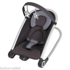 Baby Trend Rock'n Baby Infant Bouncer Cinder Grey & Black DISPLAY MODEL