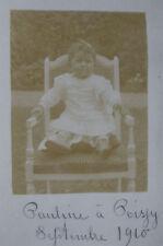 CPA Photographie ancienne Bébé élégant Pauline à Boissy Septembre 1910
