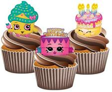 Shopkins Birthday Mix A Cake Toppers Wafer Card Popular Decorations Kids Cute