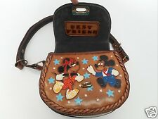 RARE Personalized Hand Painted Mickey Mouse Shoulder Bag Vintage Saddle Bag