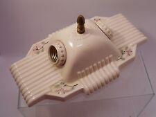 Double Vintage Retro Porcelain Electric Wall Light Fixture Floral Cherry Blossom