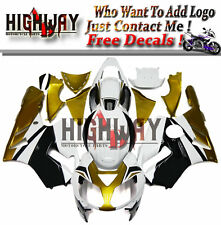 X Body Injection For Kawasaki ZX12R 2002-06 ABS Fairings Kit Bodywork White Gold