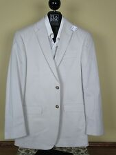 $495 New Jos A Bank JOSEPH solid Stone Slim fit cotton suit 43 R 37 W