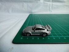 Cararama Detailed 1:72 Mini Porsche 911 GT Turbo Grey  Diecast Toy Car 00 Gauge