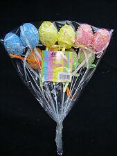 10 x Easter Eggs Picks Cake Easter Decorations Easter Bonnet Making Floristry